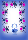 First communion. An illustration with religious symbols Royalty Free Stock Image