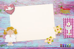 First Communion background for girl Stock Photo