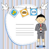 First Communion Boy. First Communion Invitation Card. Boy Royalty Free Stock Images