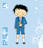 First Communion Boy. Invitation Card Stock Image