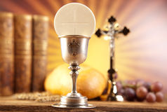 First communion, bright background, saturated concept Royalty Free Stock Photos