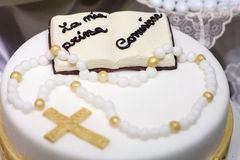 First Communion cake Stock Images