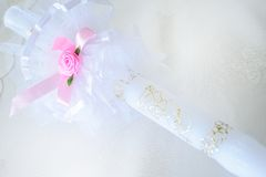 First communion candle Stock Photography