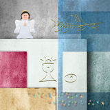 Background cheerful first communion, chalice and angel Stock Photography