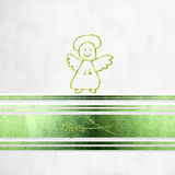 First communion card, angel and ears of wheat Royalty Free Stock Photo