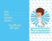 First communion card design Royalty Free Stock Image