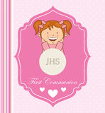 First communion card design Stock Photos