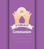 First communion card design. Vector illustration eps10 graphic Stock Photography