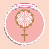 First communion card design Stock Images