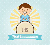 First communion card design. Vector illustration eps10 graphic Royalty Free Stock Photography