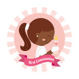 First communion card design. Vector illustration eps10 graphic Stock Photos