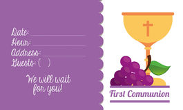 First communion card design Stock Photos