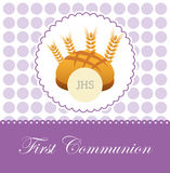 First communion card design. Vector illustration eps10 graphic Royalty Free Stock Image