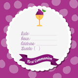 First communion card design Royalty Free Stock Photography