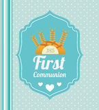 First communion card design. Vector illustration eps10 graphic Royalty Free Stock Photos
