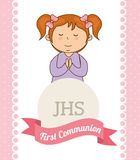 First communion card design Stock Image