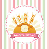 First communion card design Stock Photography