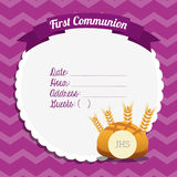 First communion card design. Vector illustration eps10 graphic Stock Photo