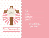 First communion card design Stock Photo