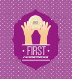 First communion card design. Vector illustration eps10 graphic Stock Images