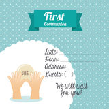 First communion card design Royalty Free Stock Photos