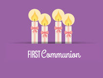 First communion card design Royalty Free Stock Images