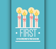 First communion card design Royalty Free Stock Photo