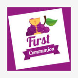 First communion card design. Vector illustration eps10 graphic Stock Image
