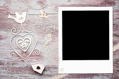 First Communion card empty photo frame Stock Images