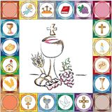 First communion card Royalty Free Stock Photo