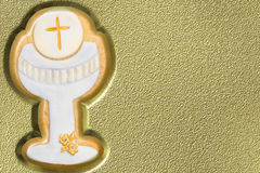 First communion chalice background Royalty Free Stock Photo