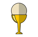 First communion chalice icon. Vector illustration design Stock Image