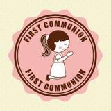 First communion Stock Photo