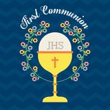 First communion design Royalty Free Stock Photos