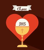First communion design. Vector illustration eps10 graphic Royalty Free Stock Images