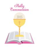 First communion design Stock Photography