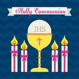First communion design. Vector illustration eps10 graphic Royalty Free Stock Photo