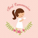 First communion design Stock Photo