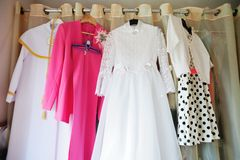 First communion dress Royalty Free Stock Image