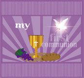 The First Communion, or First Holy Communion Stock Photo