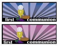 The First Communion, or First Holy Communion Stock Images