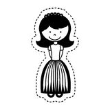 First communion girl character. Illustration design Royalty Free Stock Photography