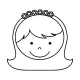 First communion girl character. Illustration design Stock Photography