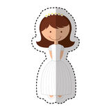 First communion girl character. Illustration design Royalty Free Stock Image