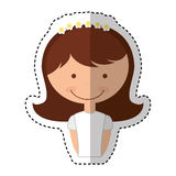 First communion girl character. Illustration design Stock Images