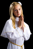 First communion girl Royalty Free Stock Photos
