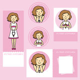 First communion girl. Set my first communion. girl Royalty Free Stock Photos