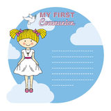 First communion girl Stock Photos