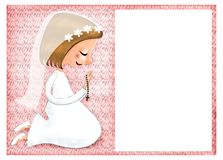 First Communion invitation. This is an illustration  you can use to create a First Communion invitation Royalty Free Stock Photo