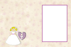 First Communion invitation card blonde girl Royalty Free Stock Photography